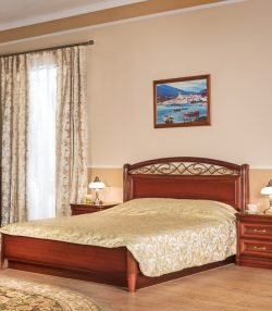 Кровать без изножья с кованым изголовьем Василиса
