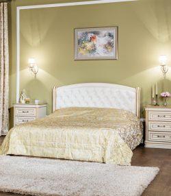 Кровать без изножья с мягким изголовьем Василиса