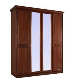 Шкаф 4-дверный с 2 зеркалами Сан-Ремо