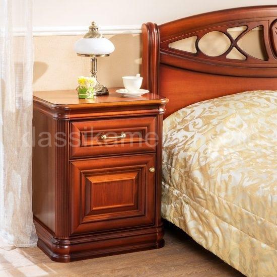 Тумба прикроватная (дверь+ящик) Василиса