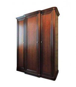 Шкаф для одежды 3-дверный с выступом Василиса