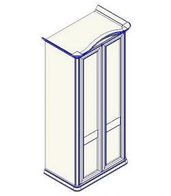 Шкаф для одежды 2-дверный (гнутый карниз) София