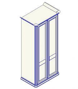 Шкаф для одежды 2-дверный (прямой карниз) София