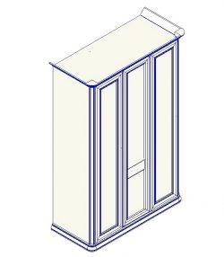 Шкаф для одежды 3-дверный (прямой карниз) София