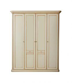 Шкаф для одежды 4-дверный (прямой карниз) София