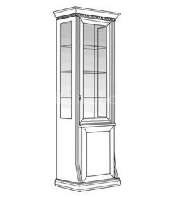 Витрина 1-дверная Верона