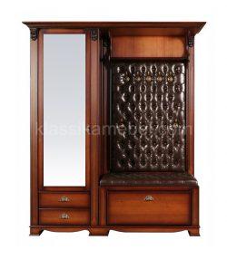 """Прихожая """"Лувр"""" с одностворчатым шкафом и ящиками+зеркало (экокожа)"""