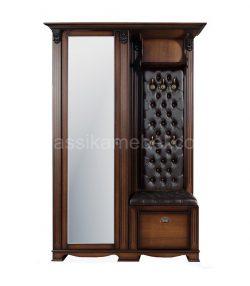 """Прихожая """"Лувр"""" с одностворчатым шкафом и зеркалом(экокожа) узкая"""